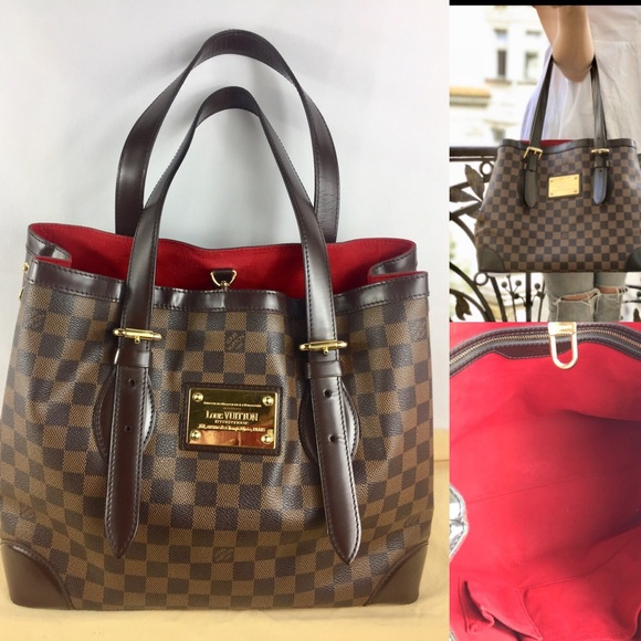 Final price!❤️large checkered❤️ tote louis vuitton